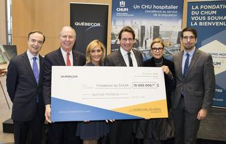 $15 million donation to Fondation du CHUM