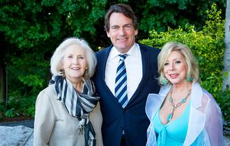 Andrée Lachapelle, Pierre Karl Péladeau and Patsy Gallant