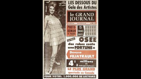 1955 – After launching the magazine Nouvelles et potins, Pierre Péladeau creates a string of celebrity weeklies, disturbing the political and religious elite of the day and laying the foundations for Québec's own star system.