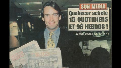 1999 – Acquisition of Sun Media Corporation's portfolio of English-language newspapers and weeklies, followed in 2006 by Osprey Media. Quebecor becomes the largest newspaper publisher in Canada. It would sell the properties in 2014.