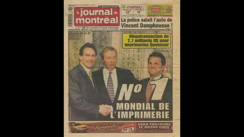 1999 − Acquisition of World Color Press in the U.S. for $4 billion, the largest single transaction in Quebecor history, to create Quebecor World, which would become the largest commercial printer in the world.