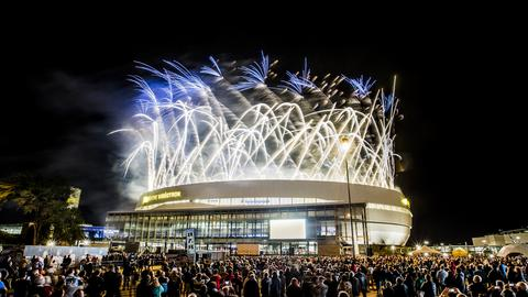 2015 – The Videotron Centre, Québec City's new arena, officially opens its doors.